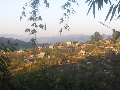 Aini village in mountains
